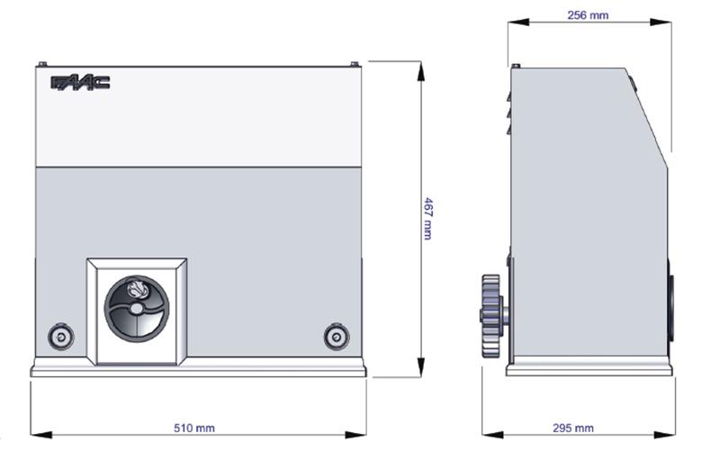 FAAC快速平移门电机尺寸