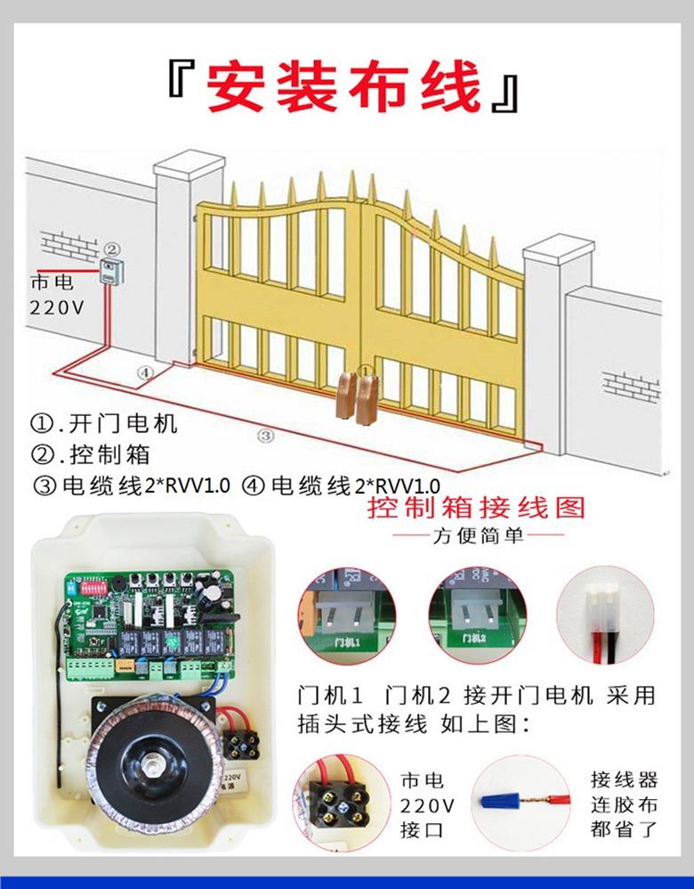 卡诺林轮式智能遥控平开门机DCK680/690